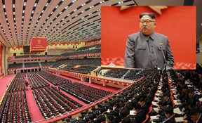 North Korean leader Kim Jong-Un during the 5th Conference of the Workers' Party of Korea.