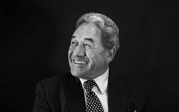 Winston Peters photographed in his office at Bowen House in the lead up to the 2017 election.