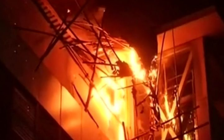 The fire in a shopping complex in Mumbai.