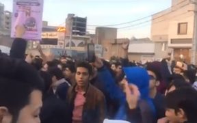 Protests in Qom. Thousands of people protested across Iran, at first over high prices before they turned political.
