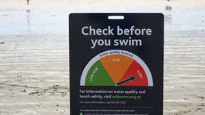 Signs warned of the water quality but there were concerns kids could fiddle with them.