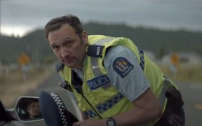 A screenshot from the new advertising campaign targeting speeders on New Zealand's roads.