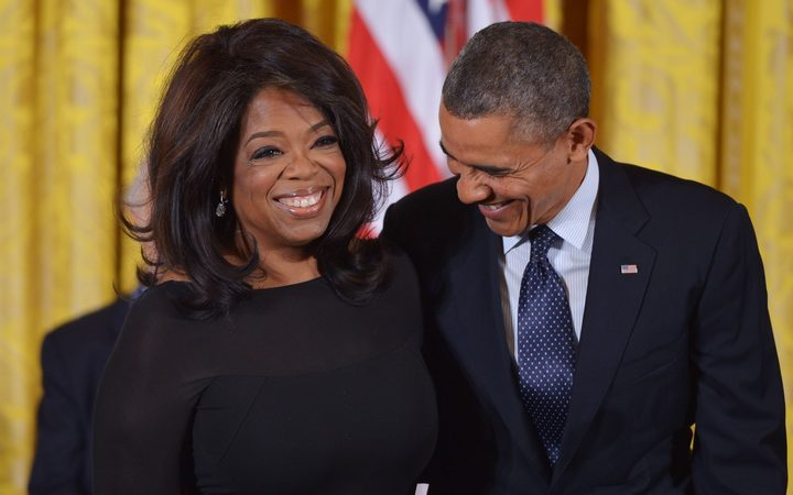 Oprah Winfrey with former US President Barack Obama in 2013.