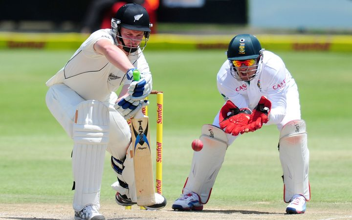 Colin Munro in his only Test against South Africa in 2013.