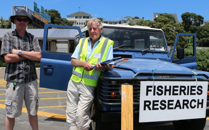 Niwa fishery scientist Bruce Hartill and interviewer Wayne Blake.