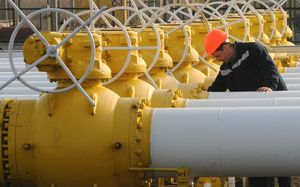 A gas compressor station in Ukraine.