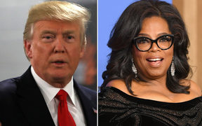 US President Donald Trump and former chat show doyenne Oprah Winfrey.