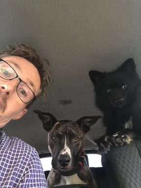 Asher Boote and his road trip buddies