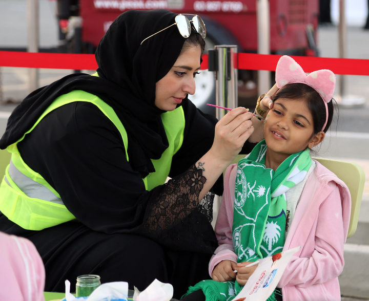 Saudi women attend sports event for first time