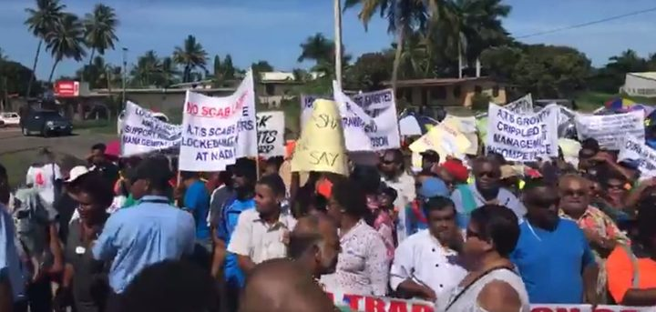 People gather to march in Nadi