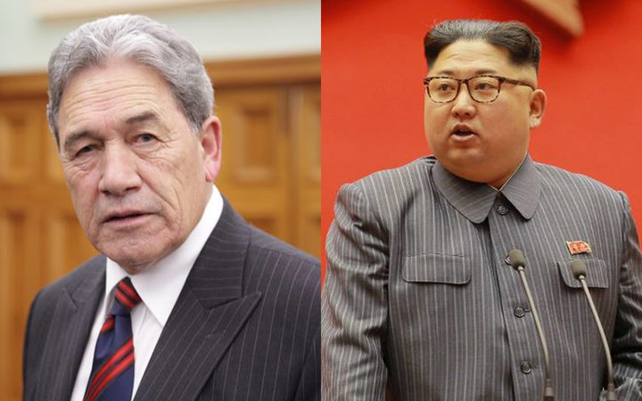 Winston Peters, left, will meet with 20 other countries to discuss North Korea