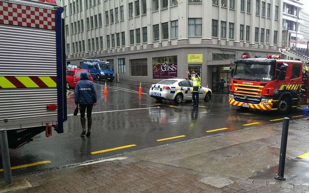 Emergency services at the scene on Wednesday afternoon.