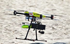 The rescue drone used by lifesavers in New South Wales to rescue two teenagers from dangerous waters.