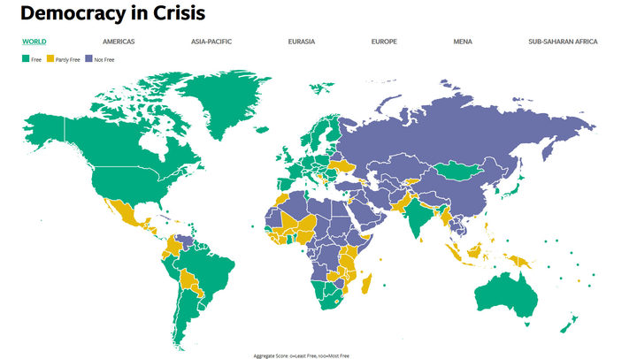 Fiji And PNG Rank Low For Political And Civil Liberties Radio - World map figi