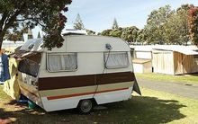 caravan in holiday park