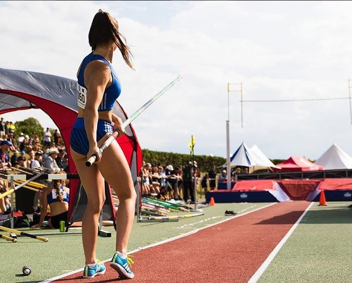Polevaulter Olivia McTaggart.