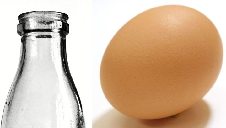 bottle and egg