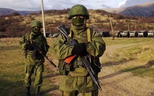Russian forces effectively control Crimea.