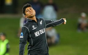New Zealand's Rachin Ravindra at the Under 19 World Cup.