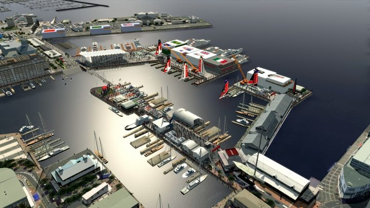 The proposed America's Cup Village around the Wynyard Quarter.