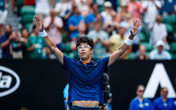 Hyeon Chung at the Australian Open