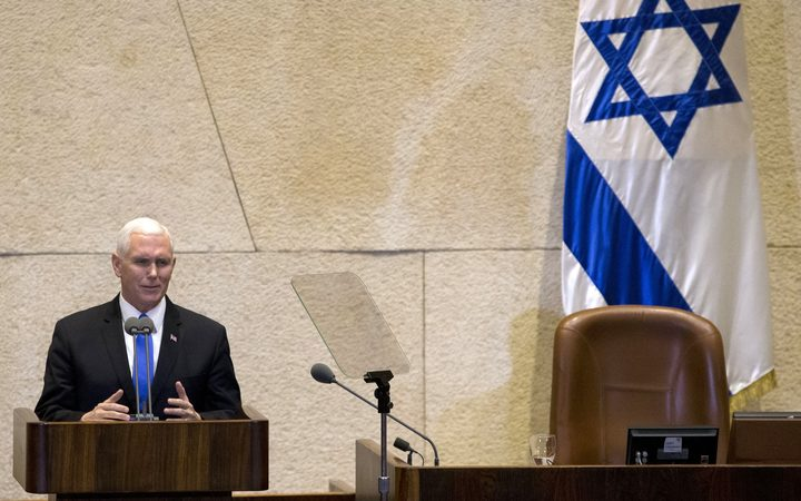 U.S. will speed up plans to open Jerusalem embassy, Pence tells Knesset