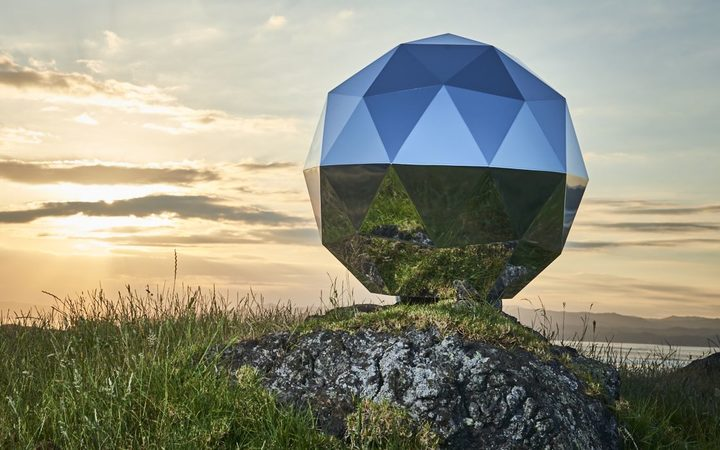 Rocket Lab sends giant disco ball into sky