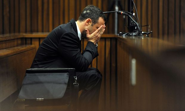 Oscar Pistorius during Day 4 of his trial.