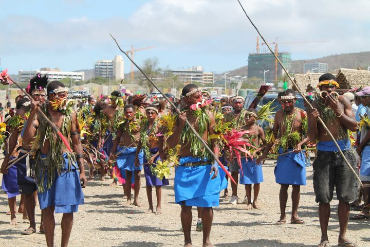 A traditional dance from Papua New Guinea's islands region performed at a cultural festival in the capital Port Moresby.
