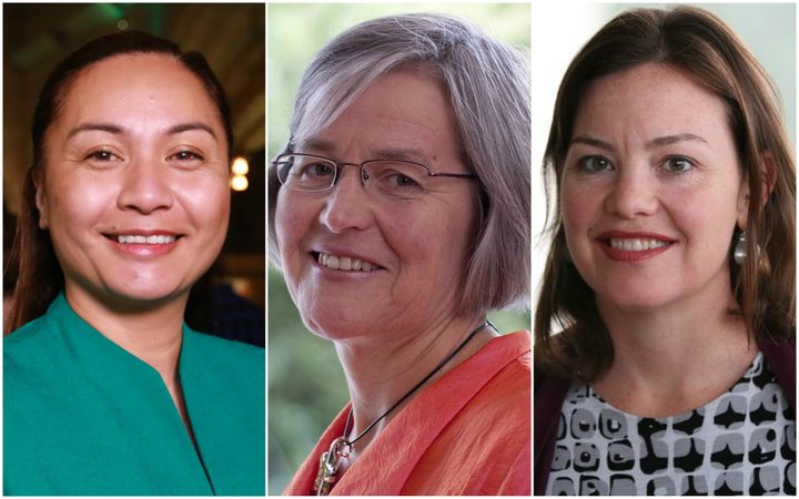Marama Davidson, Eugenie Sage and Julie-Anne Genter.