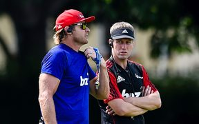 Scott Robertson Coach  and Ronan O'Gara Assistant Coach of the Crusaders.