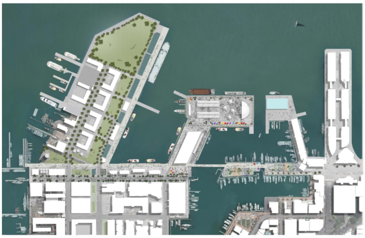 Auckland Council's outline of how it's village layout could be used post-America's Cup.