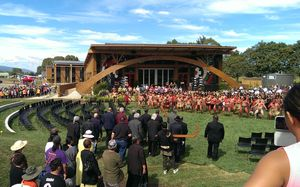 The ceremony to officially open the Tuhoe headquarters in the Bay of Plenty.