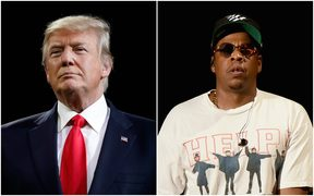Composite of Donald Trump and Jay-Z