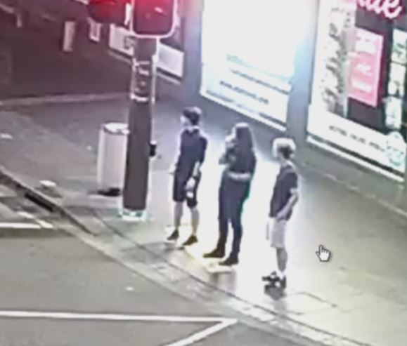 Police said these three men may have witnessed the assault.