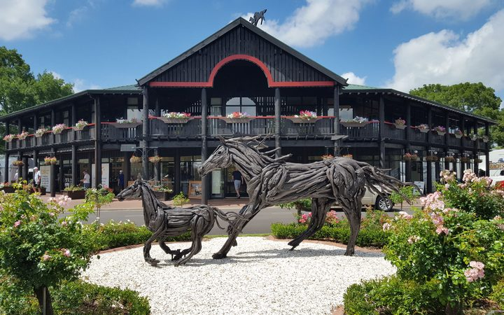 The entrance to the Karaka National Yearling sales.