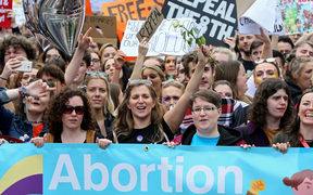 Pro choice protesters marched in Ireland last year.