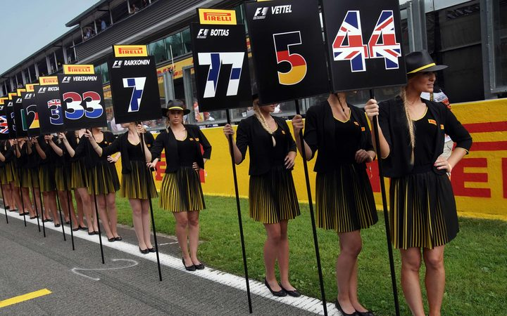 The use of female models has been increasingly criticised in Formula One.