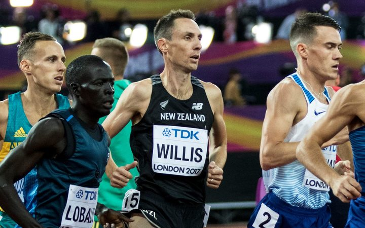 Nick Willis competing at the 2017 world champs in London.