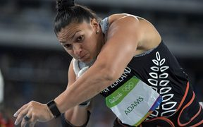 New Zealand's Valerie Adams won silver in the women's shot at the Rio Olymics.