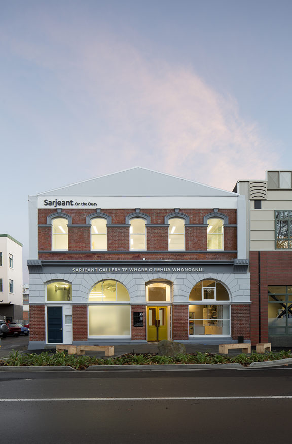 Sarjeant Gallery - facade of temporary building, Taupo Quay
