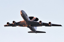An Awacs plane of the kind being deployed by Nato.