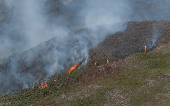 Images taken from a Royal New Zealand C-130 of a bush fire on the Chatham Islands. The images were taken in order to inform New Zealand Fire And Emergency of what will be required to subdue the blaze.