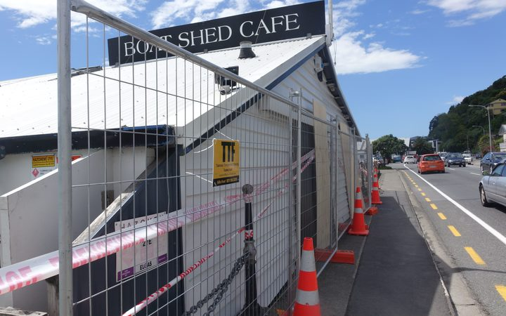 The Boat Shed Cafe took a pounding during the storm.