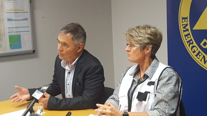 Dunedin mayor Dave Cull and council chief executive Dr Sue Bidrose.