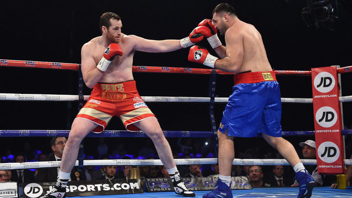 David Price (left) in action against Christian Hammer.