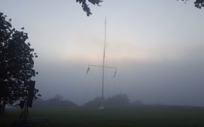 A misty Waitangi morning.