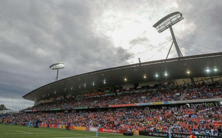The Rugby Sevens at Waikato Stadium in Hamilton