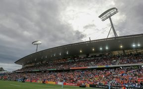 The Rugby Sevens at Waikato Stadium in Hamilton.