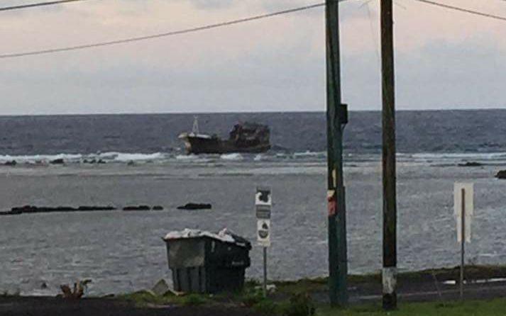 Mystery vessel aground off American Samoa